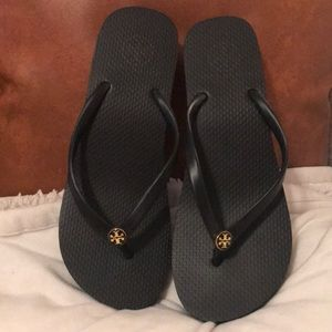 Tory Burch wedge flip flop size 7